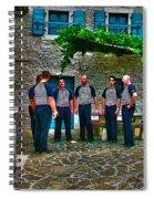 The Serenade 1 - La Serenata 1 Spiral Notebook