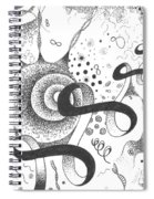 The Silent Dance Of The Particles Spiral Notebook