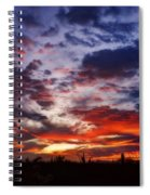 The Sky Is On Fire  Spiral Notebook
