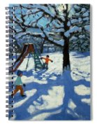 The Slide In Winter Spiral Notebook