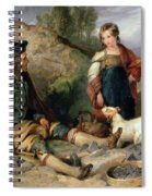 The Stone Breaker And His Daughter Spiral Notebook