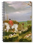 The Suffolk Hunt - Going To Cover Near Herringswell Spiral Notebook