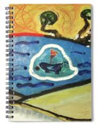 The Sun And A Boat Painting Spiral Notebook