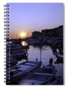 The Sun Goes Down In Rovinj Spiral Notebook