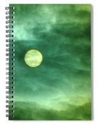 The Sun Through Clouds  Spiral Notebook