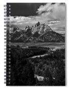 The Tetons - Il Bw Spiral Notebook