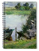 The Thames At Benson Spiral Notebook