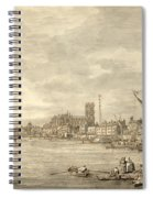 The Thames Looking Towards Westminster From Near York Water Gate  Spiral Notebook