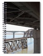 The Three Benicia-martinez Bridges In California - 5d18844 Spiral Notebook