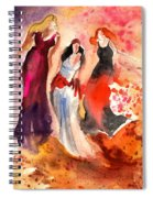 The Three Muses From Paphos Spiral Notebook