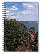 The Three Sisters - The Blue Mountains Spiral Notebook