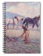 The Turn - Rice Plough Spiral Notebook