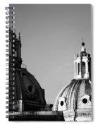 The Twin Domes Of S. Maria Di Loreto And Ss. Nome Di Maria Spiral Notebook