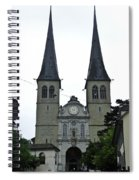 The Twin Spires Of Hof Church In Lucerne Spiral Notebook