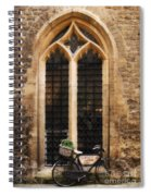 The Vaults Garden Cafe Bicycle In Oxford England Spiral Notebook