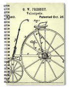 The Velocipede Patent 1880 Spiral Notebook