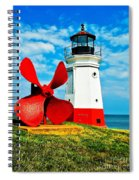 The Vermillion Light Spiral Notebook