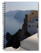 The View At Fira Spiral Notebook