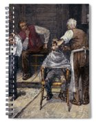 The Village Barber, 1883 Spiral Notebook
