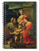 The Virgin And Child With Saints Spiral Notebook