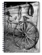 The Wagon Wheel Bw Spiral Notebook