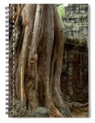 The Wall At Ta Prohm Spiral Notebook