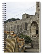 The Wall In Dubrovnik Spiral Notebook