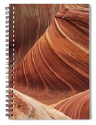 The Wave Into The Fold Spiral Notebook
