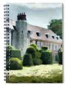 The West Wing Of Historic Hall Place  Spiral Notebook