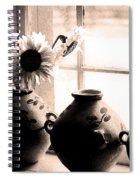 The Window Vases Spiral Notebook