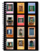 The Windows Of Venice Spiral Notebook