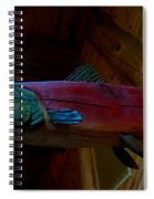 The Wooden Rainbow Trout Spiral Notebook