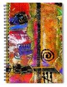 The Woven Stitch Cross Dance Spiral Notebook