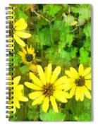 The Yellow Daisies  Spiral Notebook