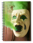 Theater Mask Spewing Green Smoke Spiral Notebook