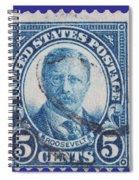 Theodore Roosevelt Postage Stamp Spiral Notebook