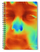 Thermogram Of A Boys Face Spiral Notebook