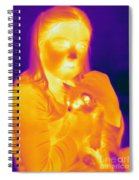 Thermogram Of A Girl And Cat Spiral Notebook
