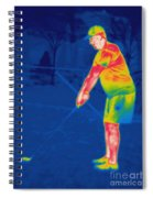 Thermogram Of A Golfer Spiral Notebook