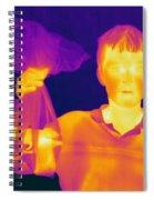 Thermogram Of A Hidden Gun Spiral Notebook