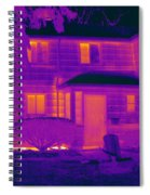 Thermogram Of A Home In Winter Spiral Notebook