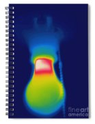 Thermogram Of A Light Bulb Spiral Notebook