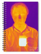 Thermogram Of A Man Spiral Notebook