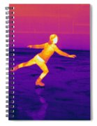 Thermogram Of A Skater Spiral Notebook