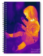 Thermogram Of A Young Girl Spiral Notebook