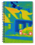 Thermogram Of Car In Front Of A House Spiral Notebook