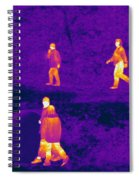 Thermogram Of People Walking Spiral Notebook