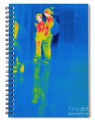 Thermogram Of Students At A Locker Spiral Notebook
