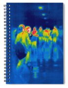 Thermogram Of Students In A Hallway Spiral Notebook