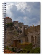 They Walk The Wall In Dubrovnik Spiral Notebook